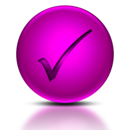 020248-pink-metallic-orb-icon-symbols-shapes-check-mark