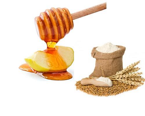 tẩy lông chân bằng bột mì và mật ong