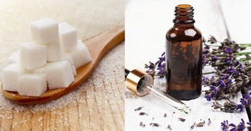 Loại bỏ ria mép bằng đường cùng dầu tràm trà và oải hương